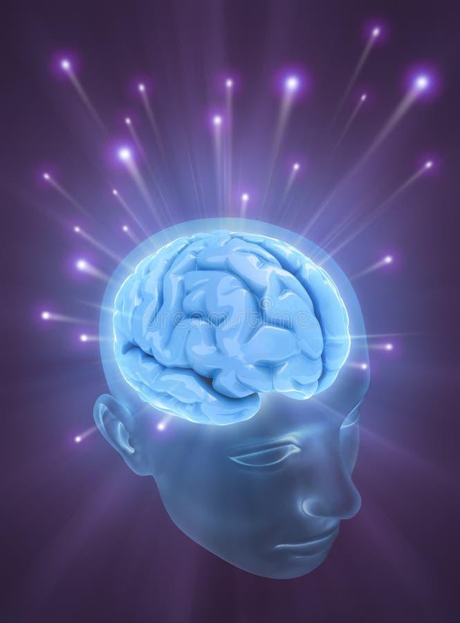 Cérebro (esferas da energia) ilustração royalty free