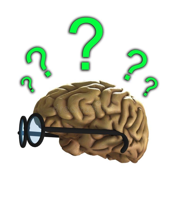 Cérebro inteligente confuso ilustração do vetor