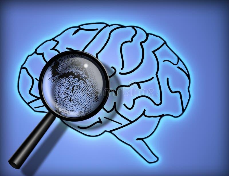 Cérebro - personalidade; ity - identidade foto de stock
