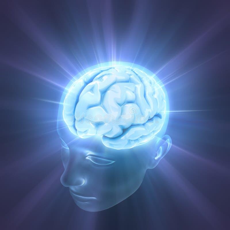 Cérebro (a potência da mente) ilustração do vetor