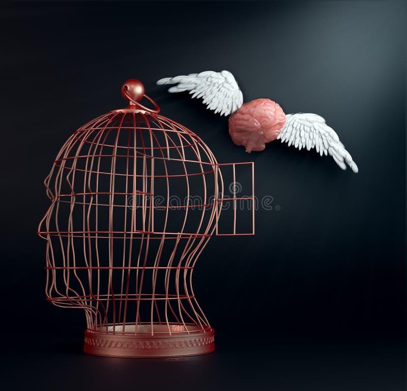 Cérebro voado foto de stock royalty free