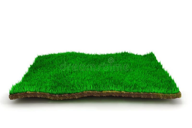 césped de la hierba 3d ilustración del vector