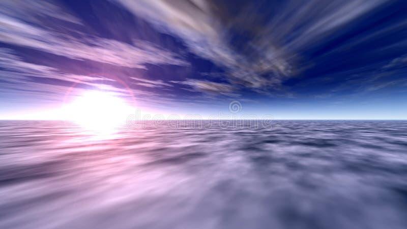 Céu 2 do oceano ilustração stock