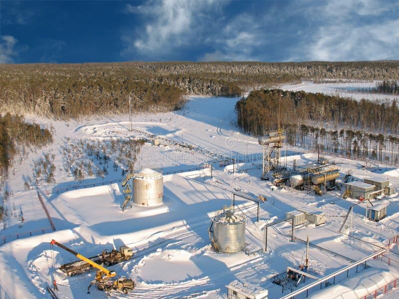 Céu aéreo da refinaria 20 imagem de stock