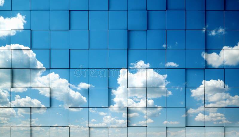Céu abstrato ilustração do vetor