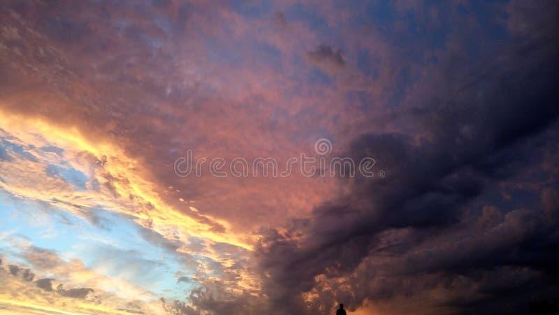 Céu alaranjado imagem de stock