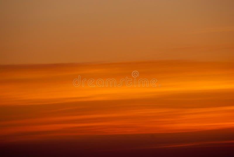 Céu alaranjado abstrato fotografia de stock royalty free
