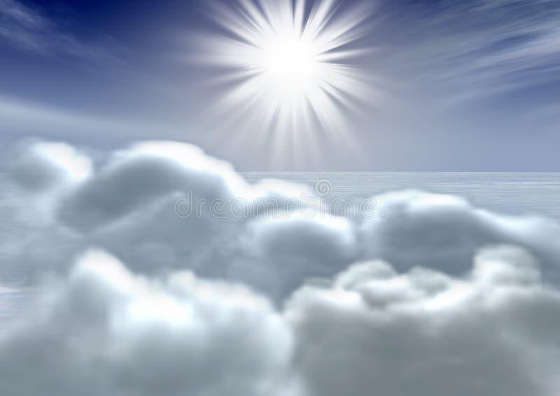 Céu & nuvens ilustração royalty free