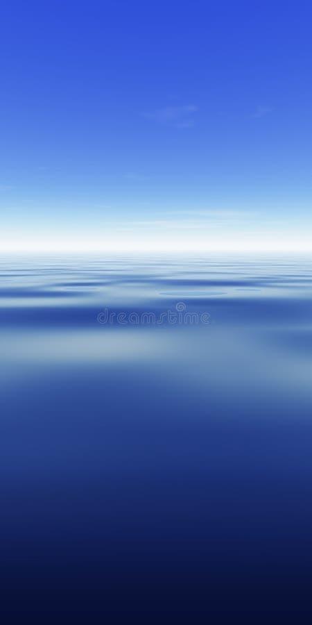 Céu & oceano ilustração stock