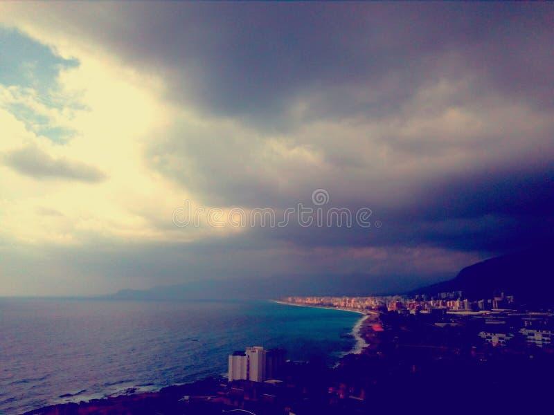 Céu antes da tempestade fotografia de stock