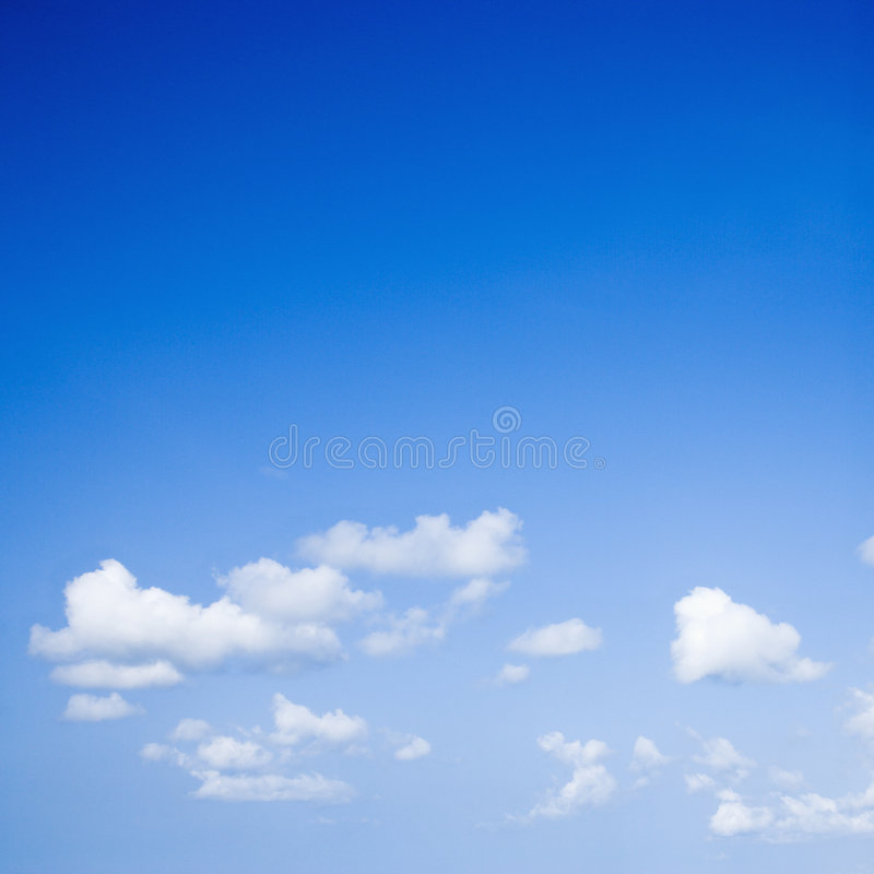 Céu azul.