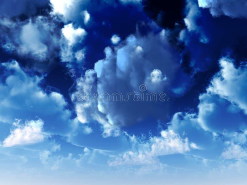 Céu azul 37 ilustração do vetor