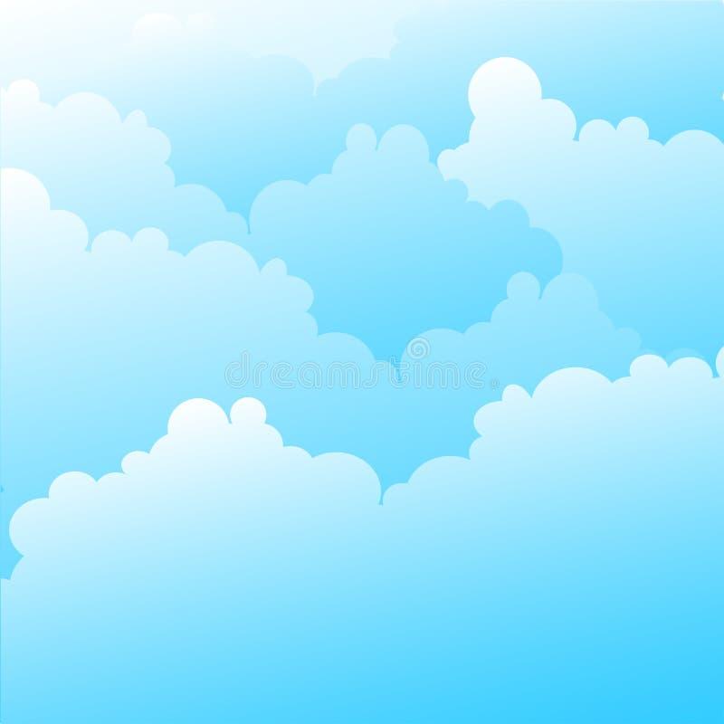 Céu azul ilustração royalty free