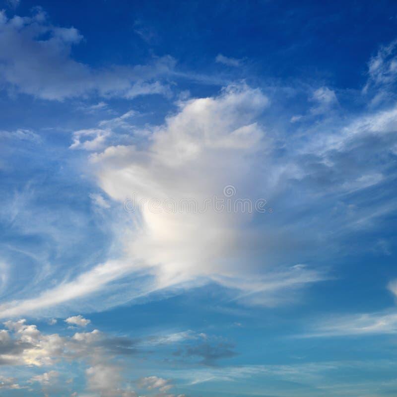 Céu azul com nuvens. imagens de stock