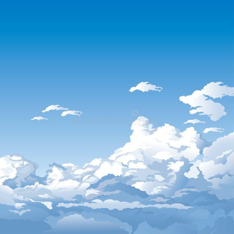 Céu azul com nuvens ilustração do vetor