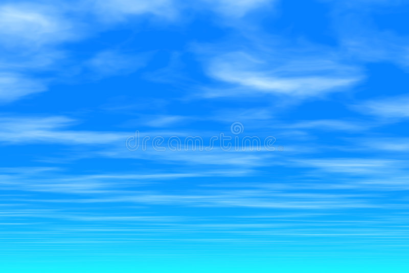 Céu azul - nuvens