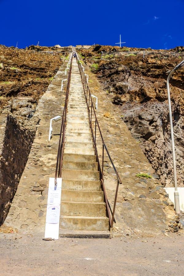 Céu azul St Helena de Jacobs Ladder fotografia de stock