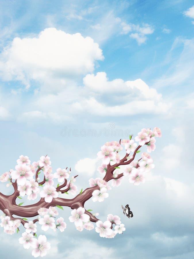 Céu bonito ilustração do vetor