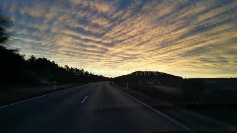 Céu bonito na manhã imagens de stock royalty free