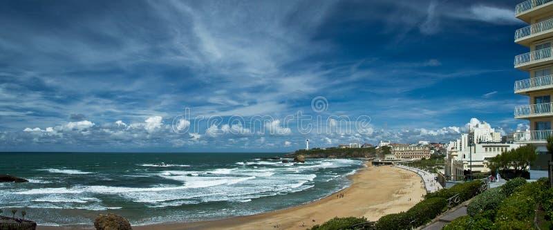 Céu bonito sobre Biarritz, França imagens de stock