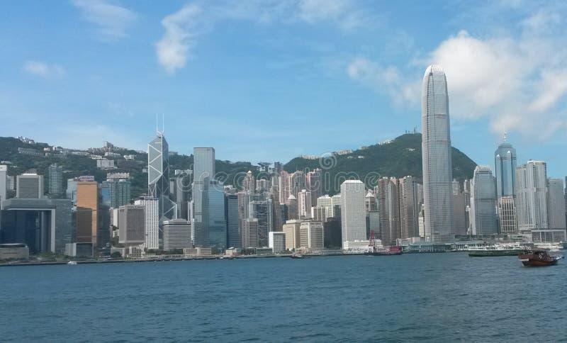 Céu buildings1 de Hong Kong imagens de stock royalty free
