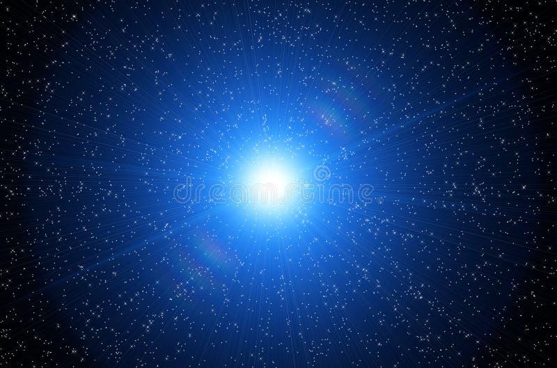 Céu cósmico ilustração do vetor