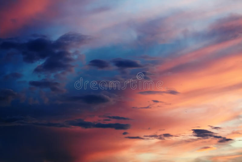 Céu celestial fotografia de stock