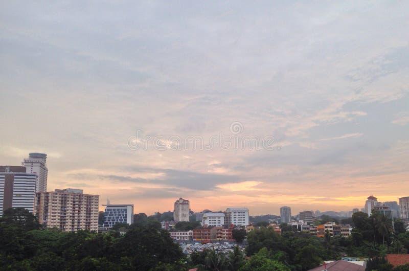 Céu colorido de Sentul foto de stock royalty free