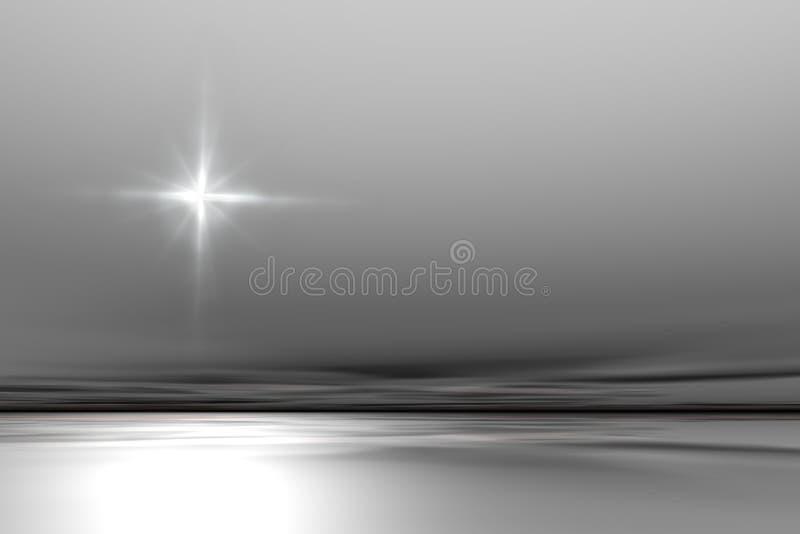 Céu com estrela. ilustração do vetor
