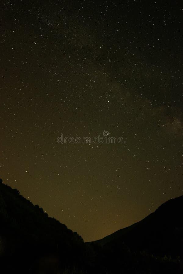 Céu completamente das estrelas foto de stock