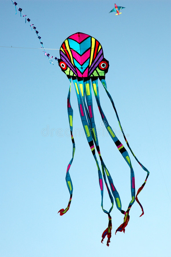 Céu completamente de kites-2 fotografia de stock royalty free