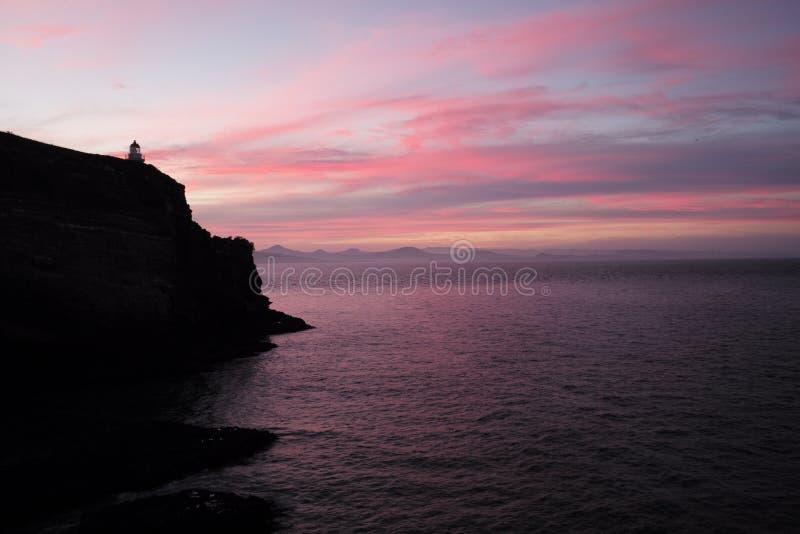 Céu cor-de-rosa em NZ do sul imagem de stock royalty free
