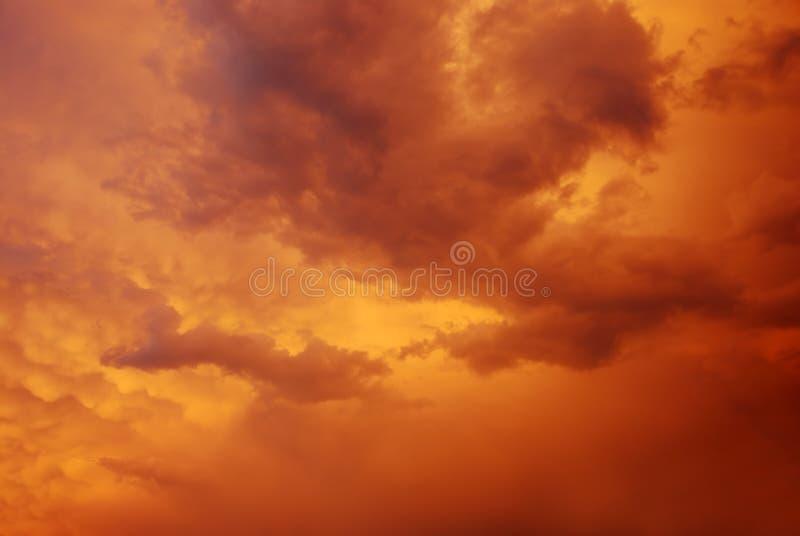 Céu crepuscular fotografia de stock
