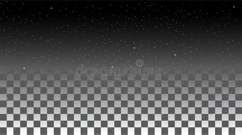 Céu da estrela em um fundo transparente ilustração do vetor