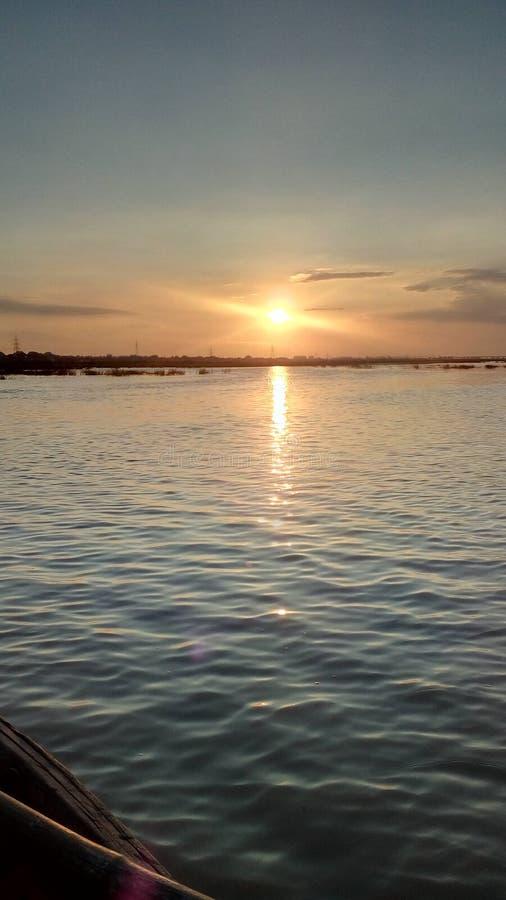 Céu da fotografia da foto do por do sol foto de stock