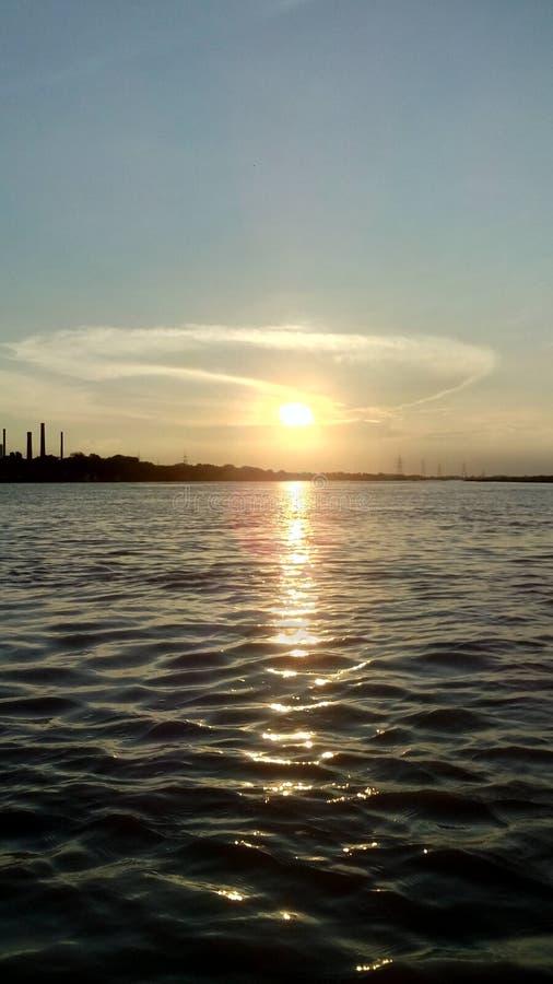 Céu da fotografia da foto do por do sol fotos de stock