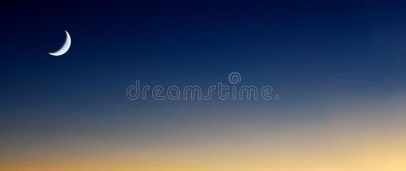 Céu da lua ilustração stock
