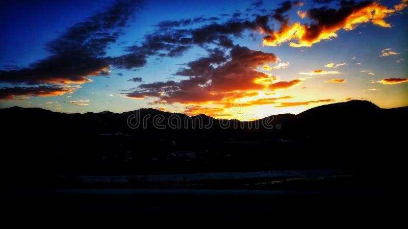 Céu da manhã foto de stock royalty free