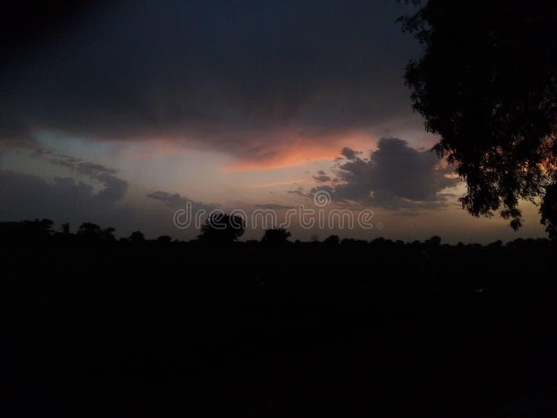 Céu da noite fotografia de stock