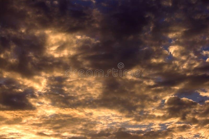 Céu da tempestade do fundo imagem de stock