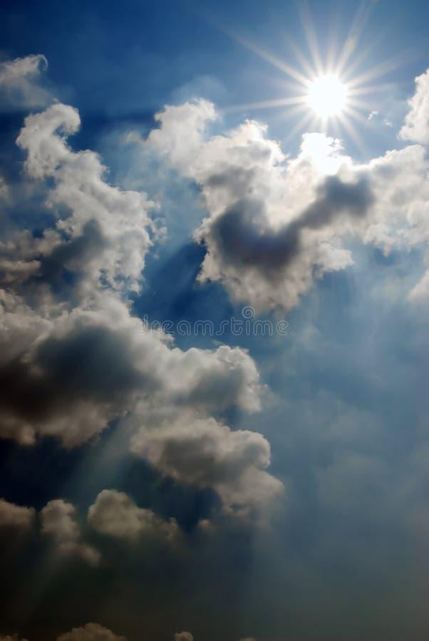 Céu de ameaça fotos de stock royalty free