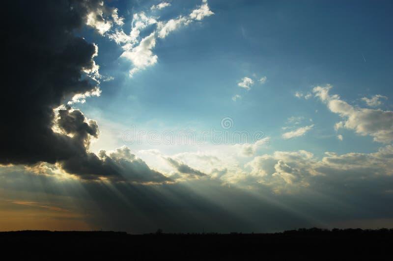 Céu de Beamful imagem de stock