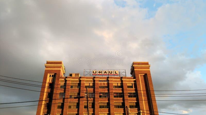 Céu de Detroit imagens de stock