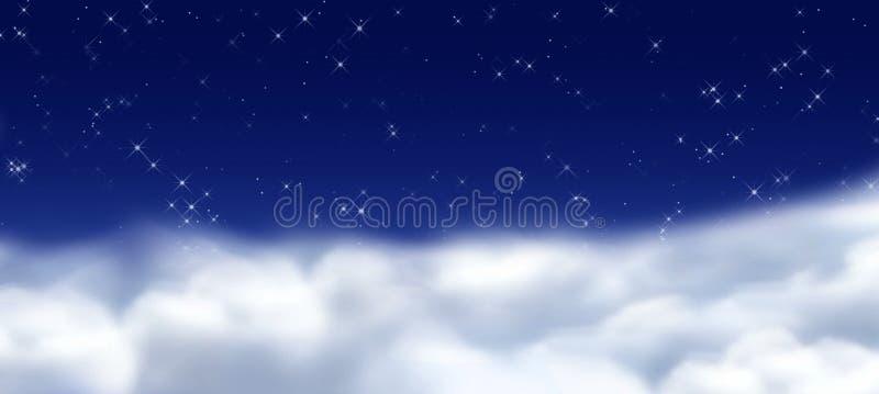 Céu de Midmight ilustração royalty free