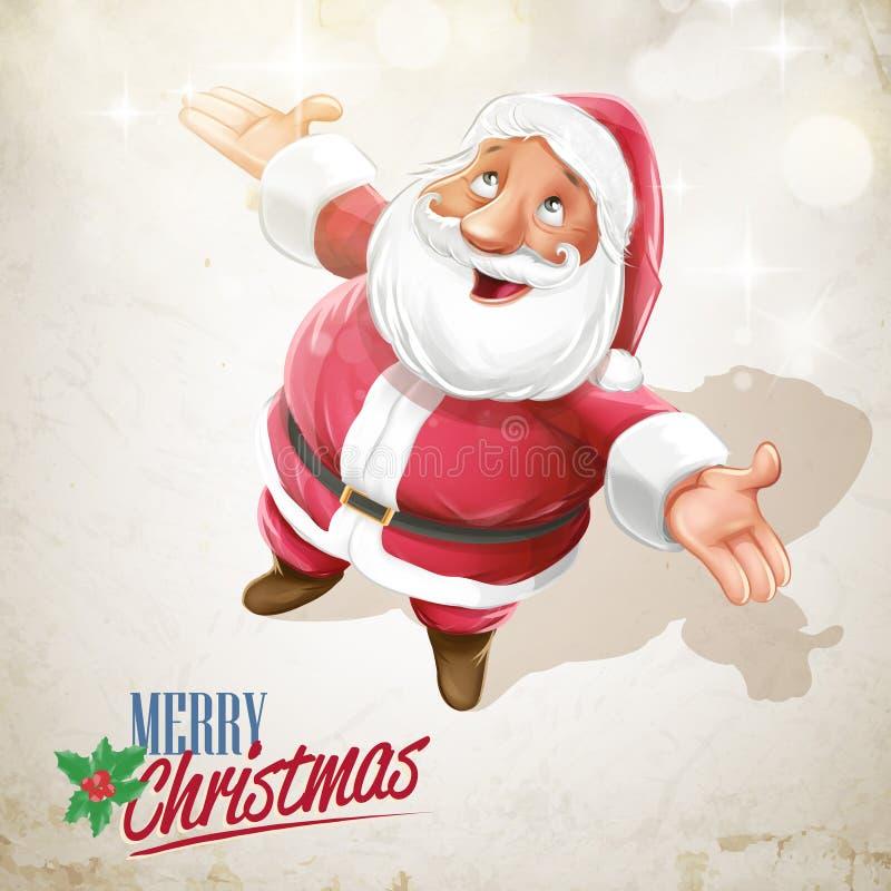 Céu de Papai Noel ilustração do vetor