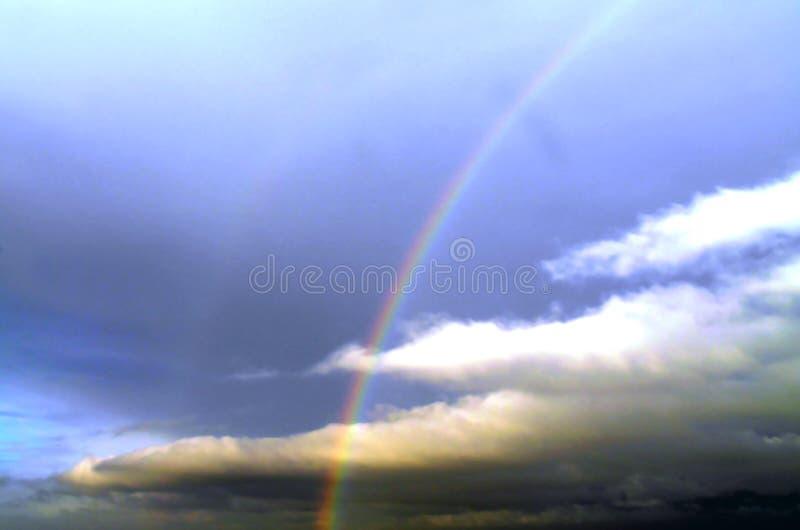 Céu do arco-íris fotos de stock