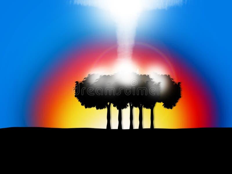 Céu do arco-íris ilustração stock