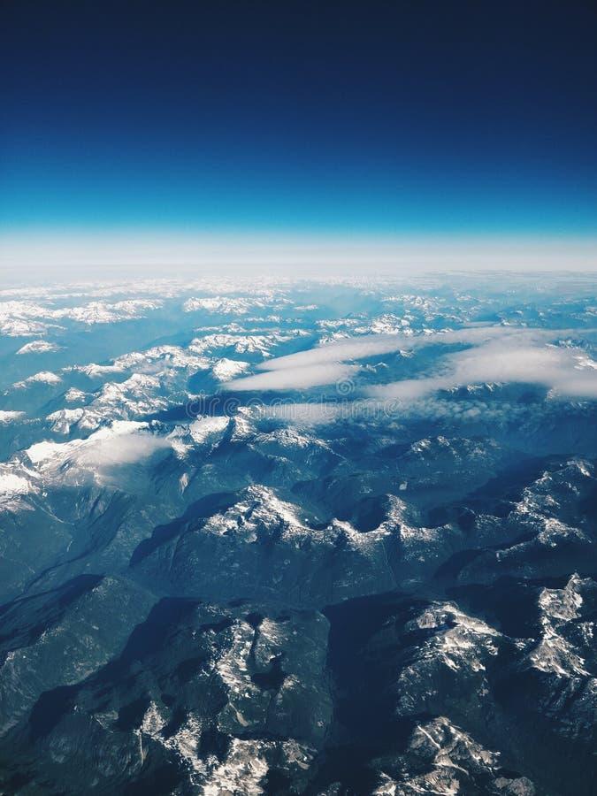 Céu do avião foto de stock royalty free