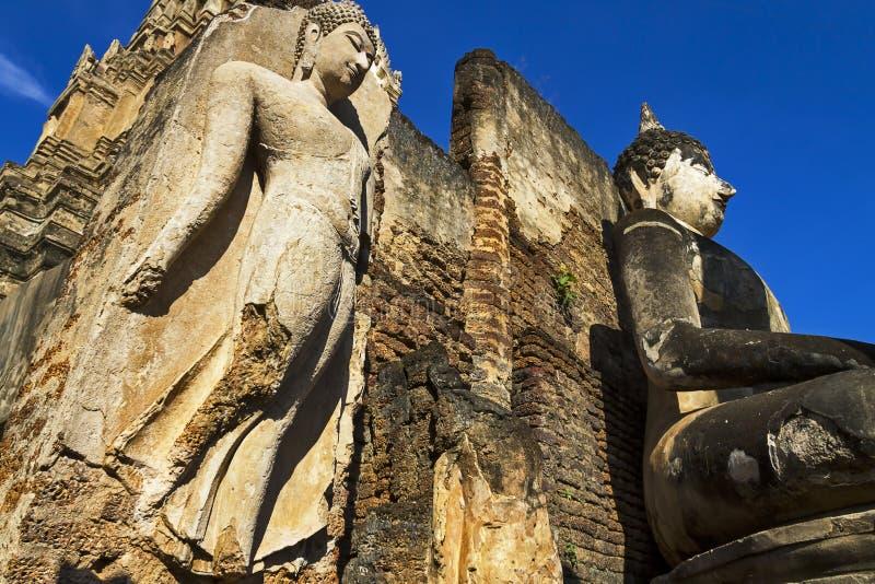 Céu do espaço livre da beleza de buddha da escultura foto de stock