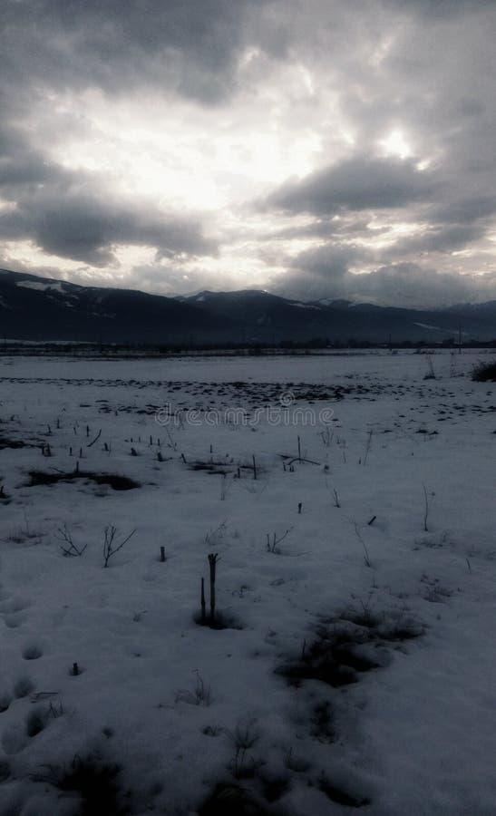 Céu do inverno imagens de stock